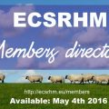 Launch announcement – ECSRHM Members directory