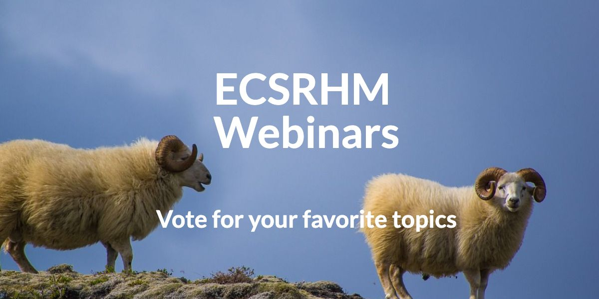 Vote for the next series of webinars